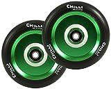 Chilli Stunt Scooter Rolle Pops 110mm schwarz (PU)/ grün (Kern)