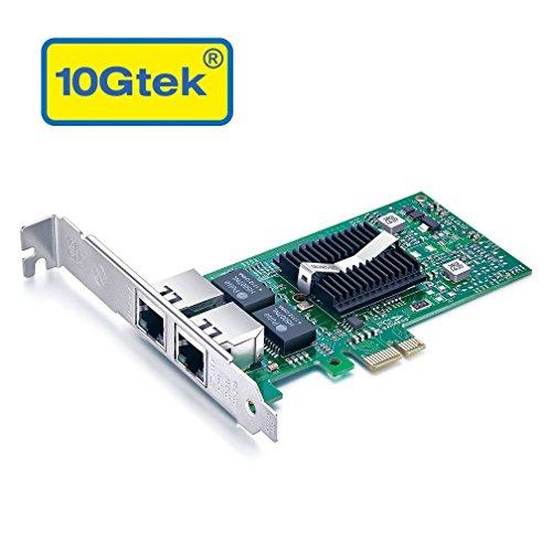 10Gtek® für Intel E1G42ET, Intel 82576 Chip Gigabit Ethernet Konvergierter Netzwerkadapter (NIC), Dual RJ45 Kupfer Ports, PCI Express 2.0 X 1