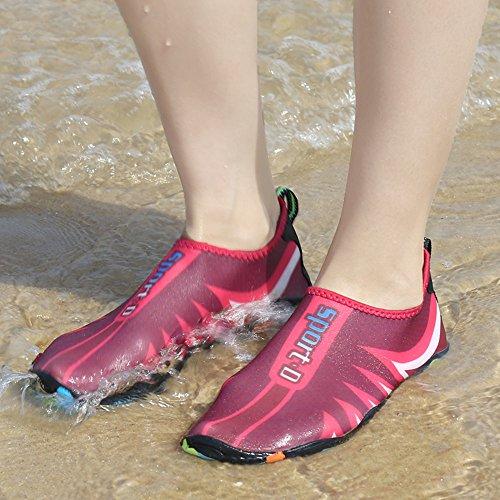 NEOKER Scarpe da Immersione da Scoglio Scarpette da Bagno Mare Spiaggia Yoga Antiscivolo Asciugatura Veloce Scarpe per Donna Uomo 35-45 Rosa
