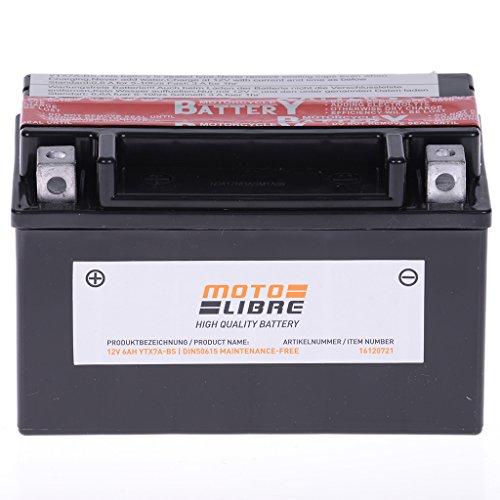Batterie 12V 6AH YTX7A-BS Wartungsfrei Motolibre 50615 Rex RS 900 Street 50 LAEAKA1-4 Takt 06-13