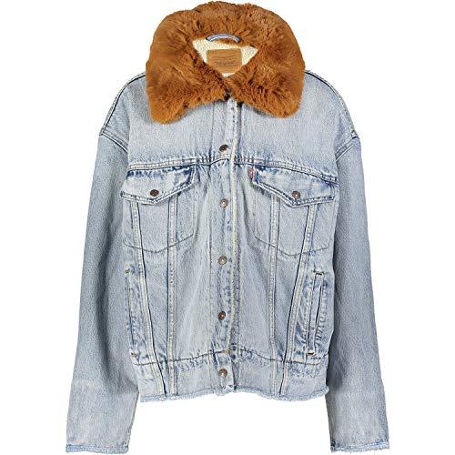 Levis Damen Jacke Oversized Sherpa Trucker 57896-0000 Hellblau, Größe:L (Levis Jeans-jacke Für Frauen)