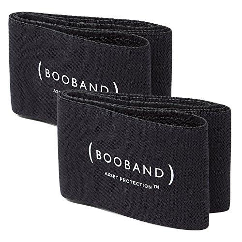 Booband Verstellbares Brustkompressionsband / Brust Unterstützung Band als Alternative zum Sport-BH, Schwarz Bundle (Komfort-unterstützung-bh)