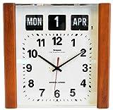 Calendar Clock with Dark Wooden Panels
