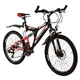 Zündapp Mountainbike Fully 24 Zoll Full Suspension MTB Fahrrad Blue 5.0 24'