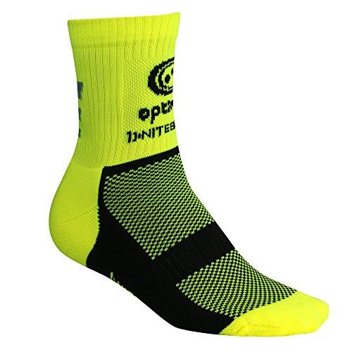 Optimum Nitebrite Fahrradsocken für Herren, Winter, hohe Sichtbarkeit XL  - Fluoreszierendes Gelb
