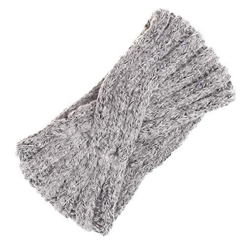 UEVOS Stirnband Damen Kopfband Mohair einfach süß koreanisch quer diagonal gestrickt Haarband Damen Haarschmuck Wolle breites Turban