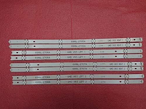 DIPU WULIAN Kit 8 PCS LED backlight strip for 49inch TV LG 49UH603V 49UH620V LC490DGE 6916L-2705A 6916L-2706A 6916L-2707A 6916L-2708A