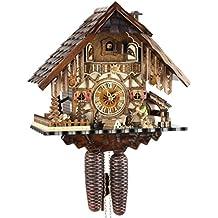 Orologio a cucù originale nero foreste Cuculo Orologio meccanico in vero legno 8giorni Drive nuovo Certificato VDS Eble–casa della Foresta Nera di 35cm 22293