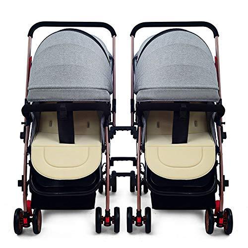 Passeggino - passeggino gemellare può sedersi e staccabili pneumatici drago e bambino pieghevole leggero passeggino doppio auto gemellare per 0 ~ 3 anni 38 cm di bambino * 88cm ampio spazio comodo ces