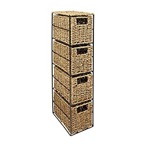 woodluv meuble de rangement 4 tiroirs tour algues cuisine maison. Black Bedroom Furniture Sets. Home Design Ideas