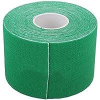 Winomo Cinta Kinesiológica, para deporte, fisioterapia, distensión muscular, de soporte, 5cm x 5m (verde)