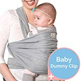 Baby Sling | Home by Nordic | Premium Baby Wrap with A Free Dummy Clip & eBook | Stretchy Baby Carrier Suitable from Newborn to 16Kg