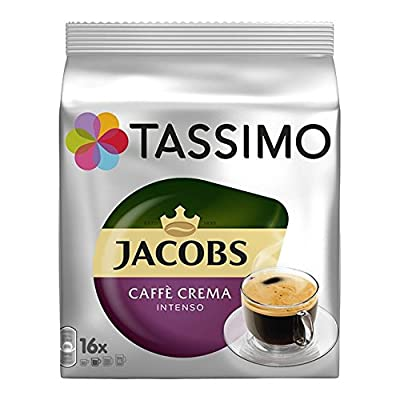 """TASSIMO"" Jacobs Caffe Crema Intenso x Pack of 5 (80 servings)"