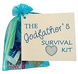 Godfather Christening Gift favour. Novelty Keepsake Survival Kit.