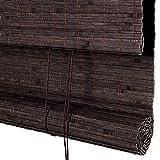 Bambusrollo, Bambus-Rollos für Fenster, Verdunkelungsrollos mit Windschutz und Seitenzug, braun (größe : 50×150cm)