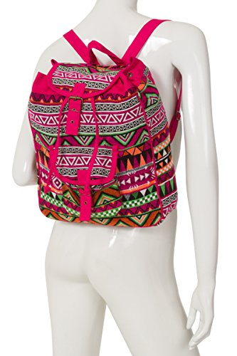 ThaiUK, Borsa a zainetto donna rosa Large Sling Pink small Backpack Pink
