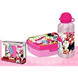 Minnie Mouse - Set cantimplora y sandwichera (Kids Euroswan WD17164)