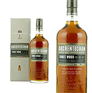 Personalised Auchentoshan Three Wood Single Malt Whisky 70cl Engraved Gift Bottle from Auchentoshan