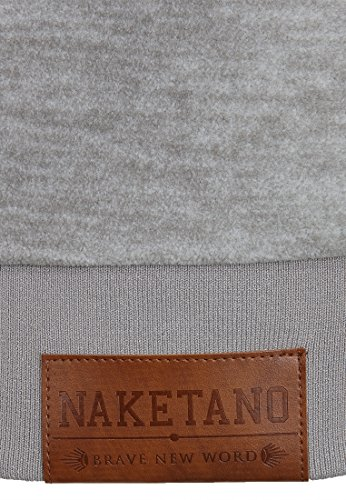 Naketano Male Zipped Jacket Gnadenlos durchgerattert II Grey Melange