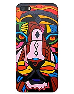 Bikzone Back Cover For Apple Iphone 5S (Multicolor)