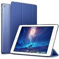 ESR Funda iPad Air 2 Silicona [Auto-Desbloquear] y Función de Soporte [Ligera] de Cuero Sintético y Plástico Duro Transparente Esmerilado Smart Cover Cáscara para Apple iPad Air 2 -Azul Marino
