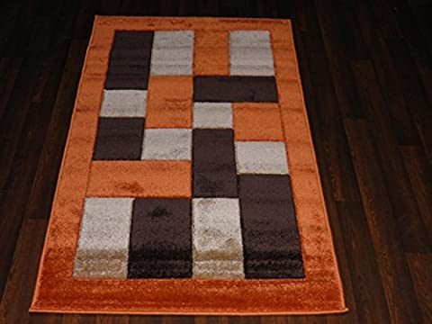 Orange/Terra Modern / Contemporary Hand Tufted 80x150cm Approx 5x3 Top Quality Rug