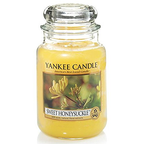 Officiel Yankee Candle Sweet Chèvrefeuille traditionnel de signature Jarre grande 623 g – Secure Mail par boîte