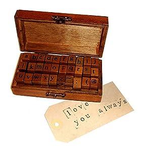 Disok- Sellos alfabeto letras y números (30 pcs), Multicolor (9648)