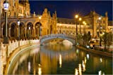 Poster 30 x 20 cm: Brücke, Plaza de Espana, Sevilla von
