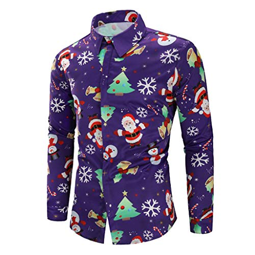 Noël Santa Décontractés Décontractée Avec Chemise Neige Holywin Candy Pour Motifs De Flocons Hommes IWYEH29D