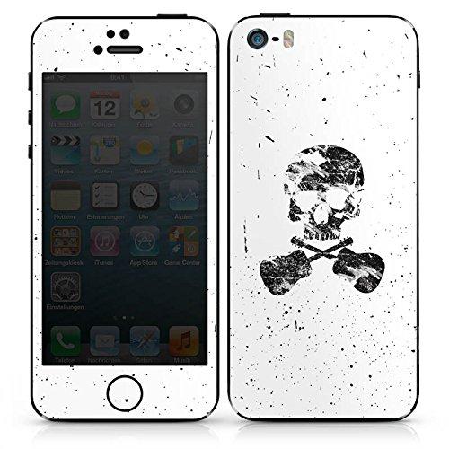 Apple iPhone 4s Case Skin Sticker aus Vinyl-Folie Aufkleber Ein toter Dichter Totenkopf Skull DesignSkins® glänzend