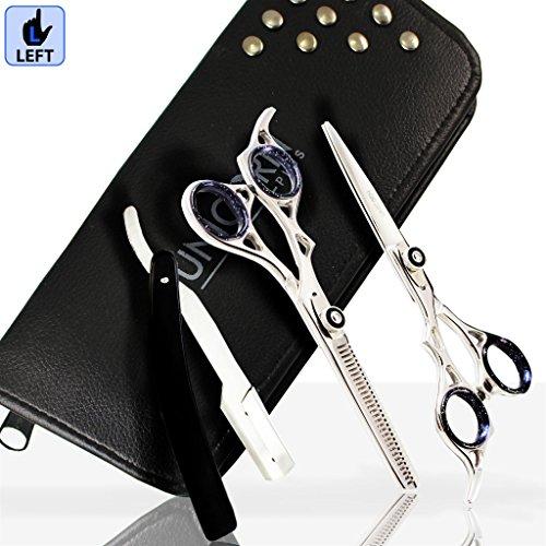 Unicorn Plus Scissors - Linkshänder Schere, Friseur Schere, Profi Haar Schere Barbier Verdünnung Schere Haar schneiden & Verdünnung / Volumen Schere Set 6,5