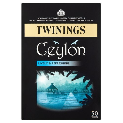 Twinings Ceylon Light and Fresh Tea Bag, 50g (Pack of 50)