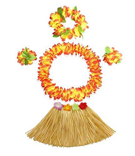 Trajes-de-fiesta-de-Navidad-Kids-Party-Hula-hawaiano-de-la-falda-de-hierba