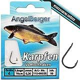Angel-Berger Vorfachhaken gebundene Haken (Karpfen, Gr.4 0.30mm)