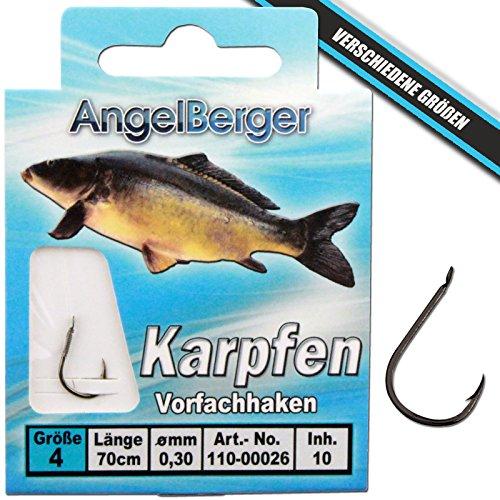 Angel-Berger Vorfachhaken gebundene Haken (Karpfen, Gr.2 0.30mm)