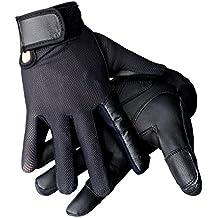 XDrum Drummer Handschuhe M (Größe M, mit langen Fingern, Innenfläche Leder, Außenseite Mesh) Schwarz