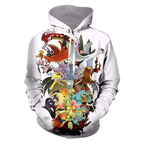 ee919fa730 Hombre Unisex 3D Impreso Suéter Cuello Redondo Sudadera con Capucha de  Mangas Largas Pokémon Jersey M