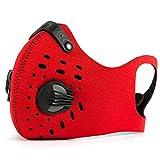 Soradoo Staubmasken mit Ersatzfilter Verschluß Ventil Ohr Hängen Feinstaubmaske Fahrrad Masken Atemschutzmaske PM0.1