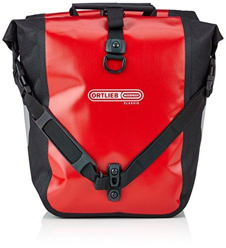 Ortlieb Unisex- Erwachsene Fahrradtasche Front-Roller Classic QL2.1, Red/Black, One Size