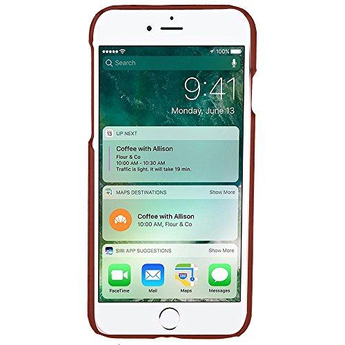 iPhone Case Cover IPhone 7 Abdeckungs-Fall, präzise Öl-Leder-harte rückseitige Abdeckung mit Karten-Schlitzen für Apple IPhone 7 ( Color : 4 , Size : IPhone 7 ) 3
