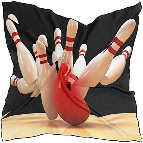Hoklcvd Quadratischer Schal Sport Bowlingkugel Muster Sonnenschutz Leichter weicher Halstuch Schals Wickelschall Schalldämpfer für Frauen Mädchen