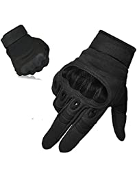 [bicicleta guantes] Adogo - Guantes de ciclismo Tech Touch mejorados para hombre, de dedo completo, color Black Fullfinger, tamaño XL
