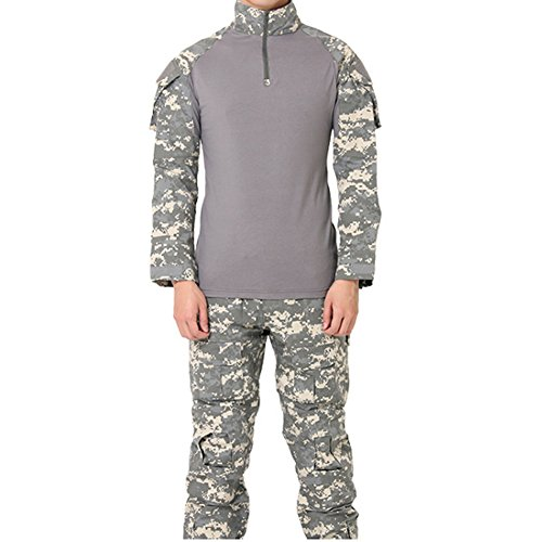 FashionYoung Camuflaje Táctico Uniforme para Hombre Camo Paintball Airsoft  Ropa Ejército Combate. 22a026c2542