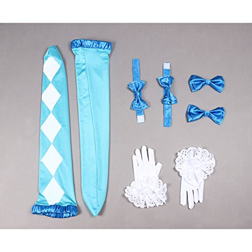 Cosplayitem Femmes Filles Lapin Costume Déguisement Robe Lolita Set Partie Danse Bleu Bleu