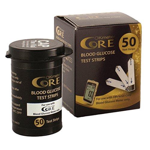 50x strisce reattive per misurazione glicemia | striscette per controllo diabete e glucosio nel sangue | strips test glucometro monouso per diabetici | compatibili okmeter | value pack