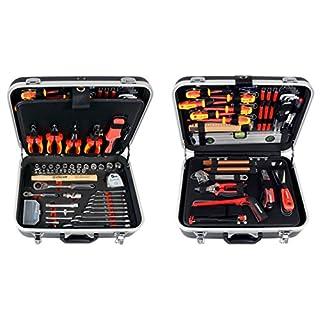 Projahn 8683 Werkzeugkoffer ELEKTRO 128-tlg. , Werkzeug Kasten / Nuss Satz / Ratschen Satz mit 6-Kant 1/2