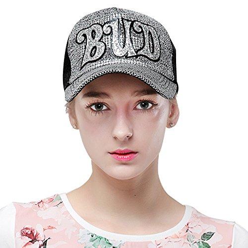 Femme élégante casquette écran solaire l'été cap bord plat bombés visor hat ont atteint un sommet, M (56-58cm) M (56-58cm)
