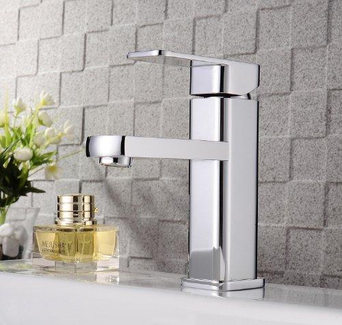 Auralum Küchenarmatur Einhebel Wasserfall Wasserhahn Waschtischarmatur Bad Armatur Spüle