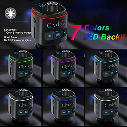 Clydek-FM-Transmitter-Bluetooth-FM-Transmitter-Radio-Adapter-Car-Kit-mit-QC30-USB-Autoladegert-MP3-Player-Untersttzung-USB-Laufwerk-TF-Karte-Freisprechen-SiriGoogle-aktivieren